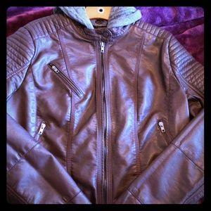 Jackets & Blazers - STYLISH WINE MOTO JACKET